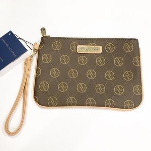 Adrienne Vittadini Signature Clutch Bag Wristlet